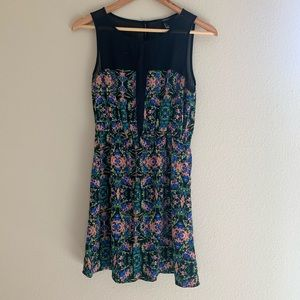 Fit and Flare Patterned Dress